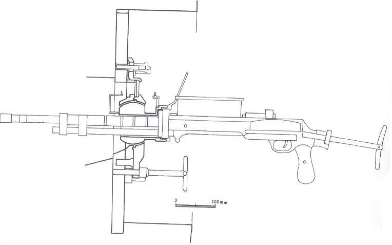 Rkm 7, 62 mm wz. 1929 DT- rysunek z prywatnych zbiorów autora